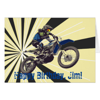 Motorcross Birthday Card