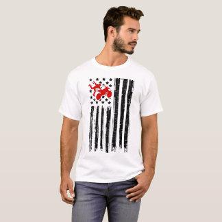 motorcross flag  american T-Shirt
