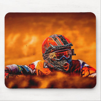 Motorcross racer mouse pad