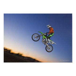 """Motorcross Rider 5"""" X 7"""" Invitation Card"""