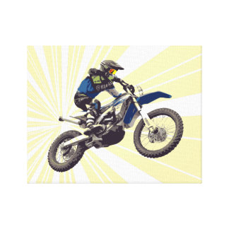 Motorcross Rider in Action Canvas Print