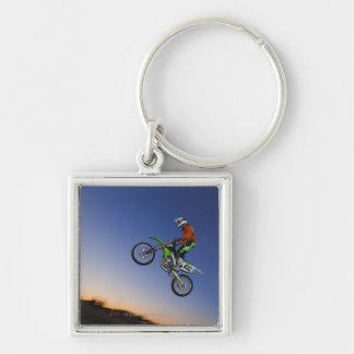 Motorcross Rider Keychain