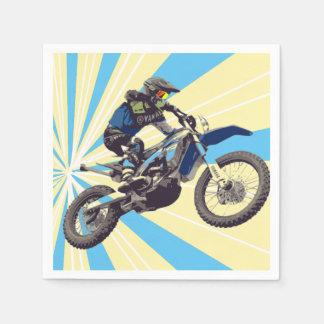 Motorcross Rider Paper Napkin