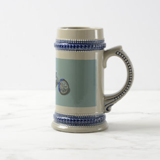 Motorcycle 1 - Blue Beer Stein