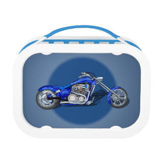Motorcycle 1 - Blue Lunch Box