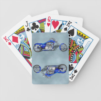 Motorcycle 1 - Blue Poker Deck