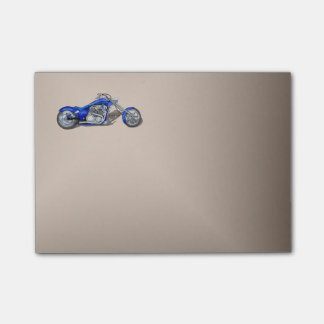 Motorcycle 1 - Blue Post-it® Notes