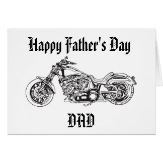 Motorcycle..1, Happy Father's Day DAD Card