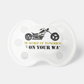 Motorcycle Angel Baby Pacifier