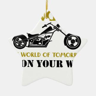Motorcycle Angel Ceramic Ornament