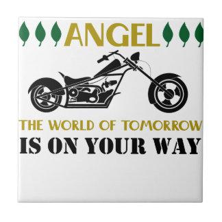 Motorcycle Angel Tile