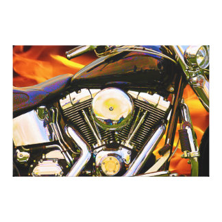 Motorcycle Art 1 Wrapped Canvas