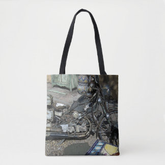Motorcycle Art Tote