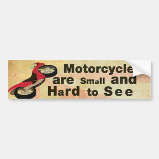 Motorcycle Awareness Bumper Sticker