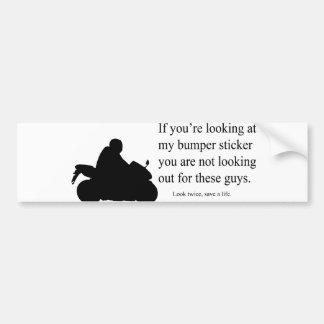 Motorcycle Awareness Bumper Sticker