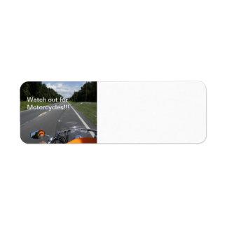 Motorcycle Awareness Return Address Label