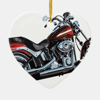Motorcycle Bike Biker Ceramic Ornament
