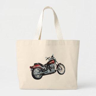 Motorcycle Bike Biker Large Tote Bag