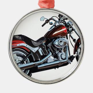 Motorcycle Bike Biker Metal Ornament