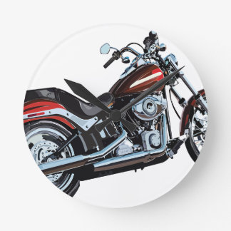 Motorcycle Bike Biker Round Clock