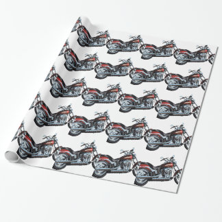 Motorcycle Bike Biker Wrapping Paper