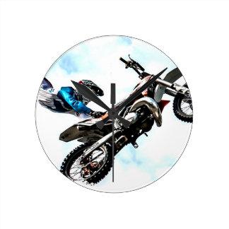 motorcycle biker acrobatic sport racing clocks