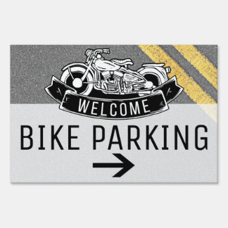 Motorcycle Biker Bike Parking Custom Party Sign