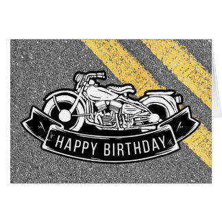 Motorcycle Biker Birthday Party Customized Card
