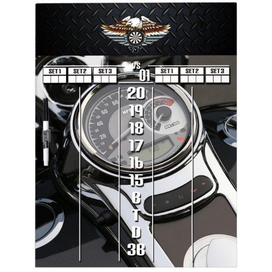 Motorcycle / Biker Darts Scoreboard Dry Erase Board