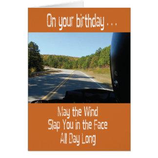 Motorcycle Biker FunnyBirthday Card
