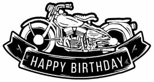 Motorcycle Biker Happy Birthday Party Decor Large Gift Bag