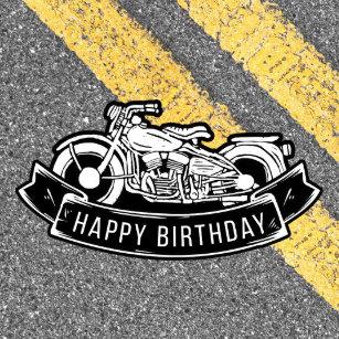 Motorcycle Biker Happy Birthday Party Serving Napkin
