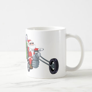 motorcycle biker santa claus coffee mug