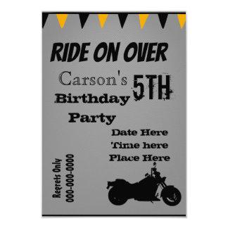 Motorcycle Birthday Invite