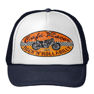 Motorcycle Cafe racer Trucker Hats
