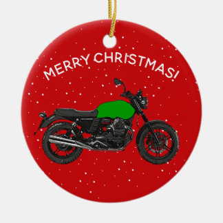 Motorcycle Ceramic Ornament