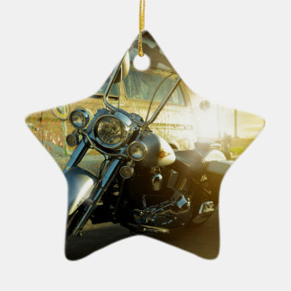 motorcycle ceramic ornament