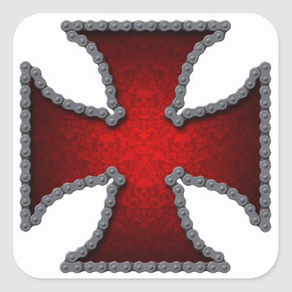 Motorcycle chain cross sticker