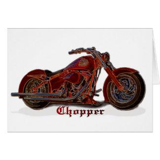 Motorcycle Chopper Card