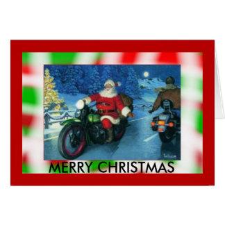 Motorcycle Santa Christmas Cards, Photocards, Invitations & More