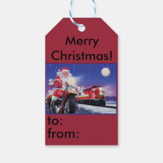 Motorcycle Christmas Gift tag Pack Of Gift Tags