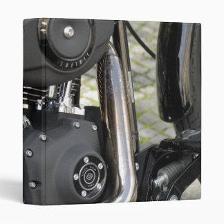 Motorcycle chrome Engine detail 3 Ring Binders