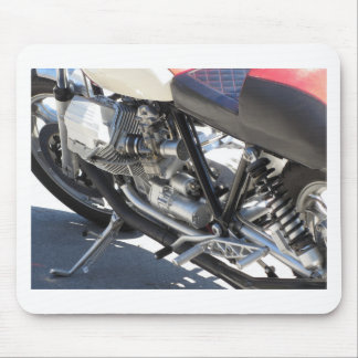 Motorcycle chromed engine closeup detail Side view Mouse Pad