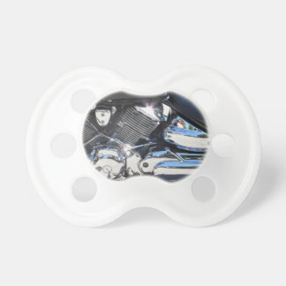 Motorcycle chromed engine closeup detail Side view Pacifier