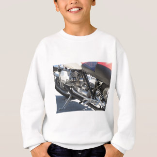 Motorcycle chromed engine closeup detail Side view Sweatshirt