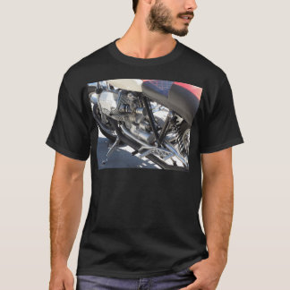 Motorcycle chromed engine closeup detail Side view T-Shirt