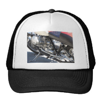 Motorcycle chromed engine closeup detail Side view Trucker Hat