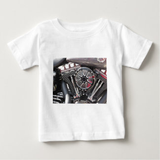 Motorcycle chromed engine detail background baby T-Shirt