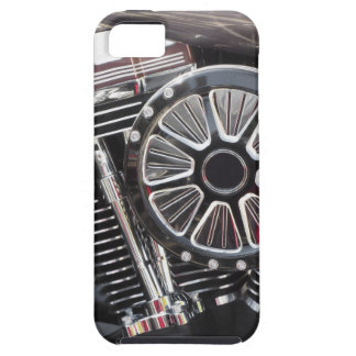 Motorcycle chromed engine detail background iPhone 5 cases