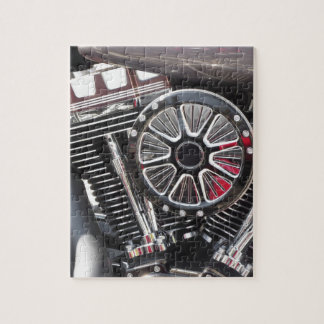 Motorcycle chromed engine detail background jigsaw puzzle